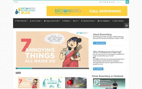 Screenshot of Blog broomberg.in - The Broomberg Guide For Clean Living - captured Sept. 18, 2016