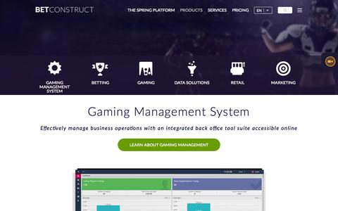Screenshot of Products Page betconstruct.com - Online Gaming and Sports Betting Products | BetConstruct - captured Oct. 2, 2015