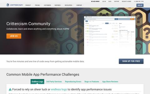 Screenshot of Developers Page crittercism.com - Developers | Crittercism - captured Sept. 13, 2014