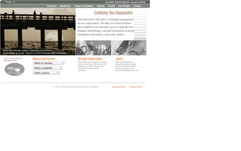 Screenshot of Home Page araworldwide.com - Allied Resources Allocator Company - captured Oct. 24, 2014