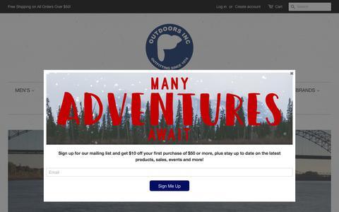 Screenshot of Home Page outdoorsinc.com - OutdoorsInc.com - captured Sept. 21, 2018