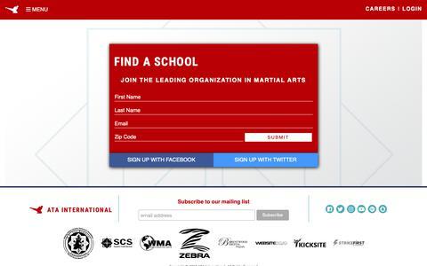 Screenshot of Signup Page ataonline.com - Sign Up - ATA International - Songahm Taekwondo - captured Oct. 3, 2018