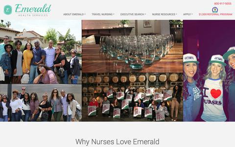 Screenshot of Testimonials Page emeraldhs.com - Nursing Tesimonials Client Testimonials   Emerald Health - captured Dec. 14, 2018