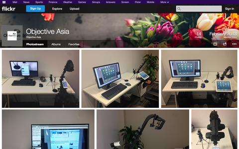 Screenshot of Flickr Page flickr.com - Flickr: Objective Asia's Photostream - captured Oct. 26, 2014