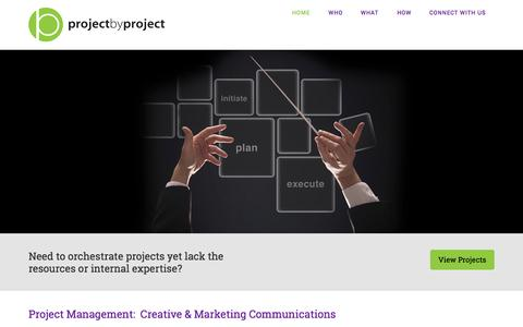 Screenshot of Home Page project-by-project.com - Project By Project – Project management - captured Sept. 30, 2014