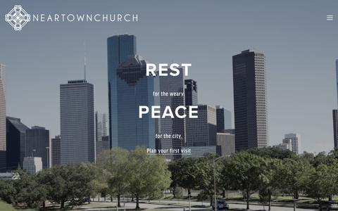 Screenshot of Home Page neartownchurch.org - Neartown Church - captured Jan. 10, 2016