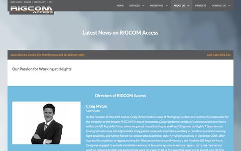 Screenshot of Team Page rigcomaccess.com - Our Team   RIGCOM Access - captured Jan. 11, 2016