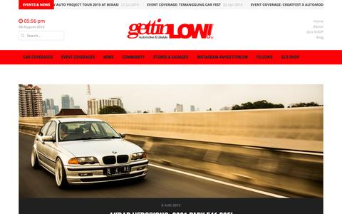 Screenshot of Home Page gettinlow.com - GETTINLOW | AUTOMOTIVE & LIFESTYLE, MAJALAH ONLINE TREND MODIFIKASI INDONESIA - captured Aug. 8, 2015