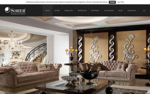 Screenshot of Home Page soher.com - Soher - Handmade Luxury Interiors - captured June 17, 2015
