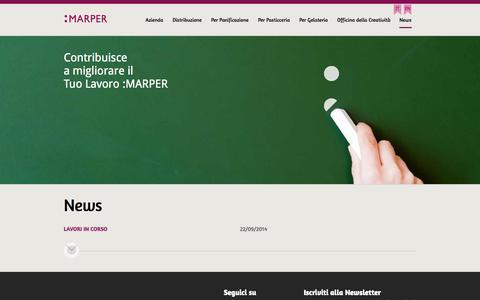 Screenshot of Press Page marper.it - MARPER | Distribuzione all'ingrosso prodotti per panifici, pasticcerie e gelaterie (Verona) - captured Oct. 27, 2014