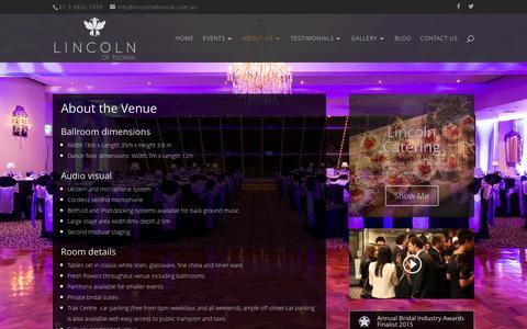 Screenshot of About Page lincolnoftoorak.com.au - Melbourne Wedding Venue   Lincoln of Toorak - captured Dec. 10, 2015