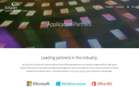 Application Partners, Application Products | iVision