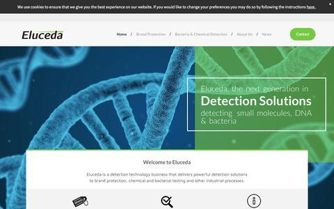 Screenshot of Home Page eluceda.com - Eluceda - captured July 18, 2018