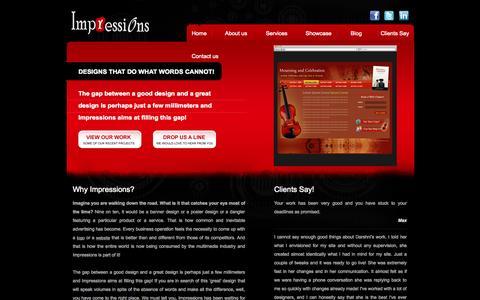 Screenshot of Home Page impressionsdiz.com - Web Design Company India | Website Design Hyderabad | Web Development Company India | Web Development Company Hyderabad | Impressions - captured Sept. 30, 2014