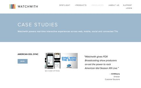 Screenshot of Case Studies Page watchwith.com - Case Studies — Watchwith - captured Sept. 17, 2014
