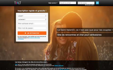 Screenshot of Home Page tiilt.fr - TiiLT : site de rencontre pour célibataire avec tchat - captured Feb. 10, 2016