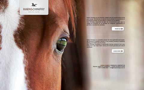 Screenshot of Home Page haraschimpay.com.ar - HARAS CHIMPAY - captured July 19, 2015