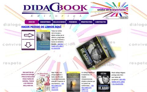 Screenshot of Home Page didacbook.com - DIDACBOOK EDITORIAL - captured Oct. 5, 2014