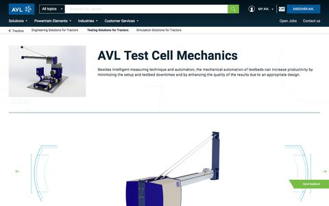 Testing Solutions for Tractors - avl.com