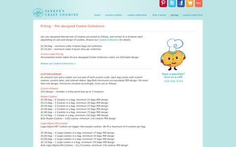 Screenshot of Pricing Page parkerscrazycookies.com - Pricing - Pre-designed Cookie Collections - captured Nov. 1, 2014