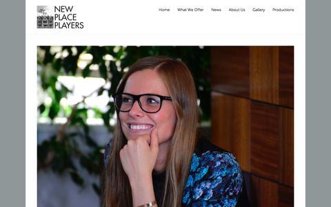Screenshot of Testimonials Page newplaceplayersnyc.com - Testimonials | NEW PLACE PLAYERS - captured Oct. 7, 2014