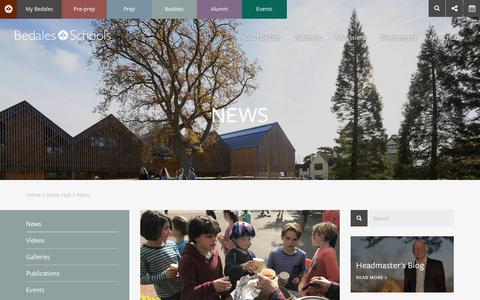 Screenshot of Press Page bedales.org.uk - News | Bedales School | Independent Day and Boarding School - captured Oct. 10, 2017