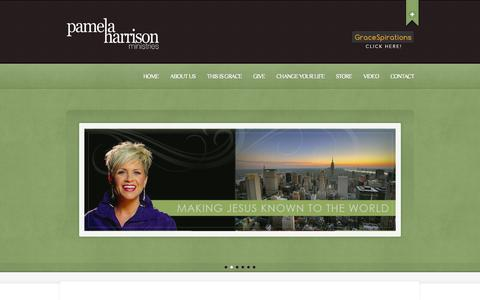 Screenshot of Home Page pamelaharrisonministries.org - Pamela Harrison Ministries | Making Him known - captured Oct. 1, 2014