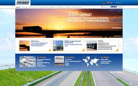 Screenshot of Home Page tridec.com - www.tridec.com - captured Oct. 7, 2014
