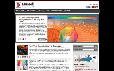 Screenshot of Home Page munsell.com - Munsell Color System; Color Matching from Munsell Color Company | - captured Oct. 18, 2018