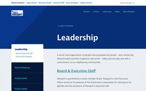 Screenshot of Team Page massport.com - Massport Leadership - captured July 10, 2019