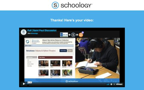 Screenshot of Landing Page schoology.com - The Definitive Guide to Building a Great Blended Learning Thank You - captured Jan. 23, 2018
