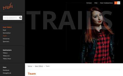 Screenshot of Team Page trails.nl - Team › Trails - captured Feb. 18, 2018