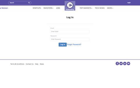 Screenshot of Login Page eastfunding.co - Login - captured Sept. 24, 2014