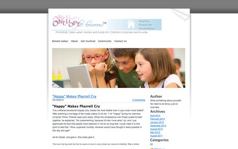 Screenshot of Blog onehopefortomorrow.org - One Hope for tomorrow.org - Blog - captured Oct. 7, 2014