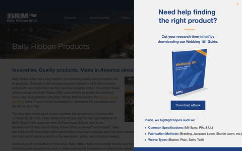 Screenshot of Products Page ballyribbon.com - Bally Ribbon Products | Bally Ribbon Mills - captured Oct. 9, 2017