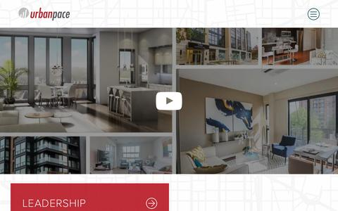 Screenshot of About Page urbanpace.com - About Urban Pace - New Condo Sales & Marketing | Urban Pace - captured Sept. 20, 2018