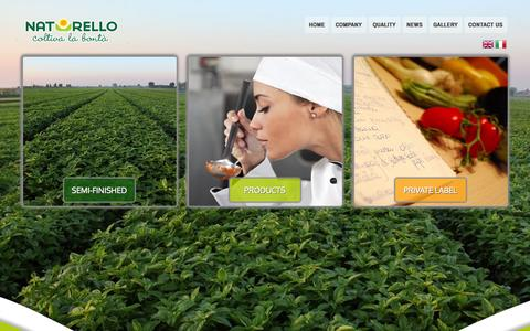 Screenshot of Home Page naturello.eu - NATURELLO - Pesto alla Genovese and other fresh chilled sauces - Basil for food industry - captured Oct. 6, 2014