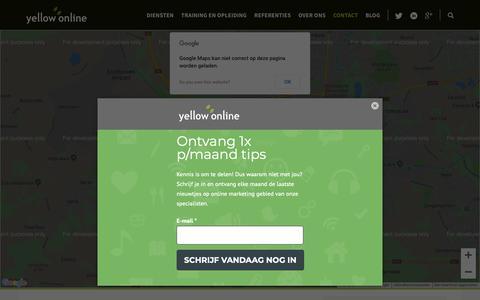 Screenshot of Contact Page yellow-online.nl - Neem contact met ons op | Yellow-online - captured Nov. 7, 2018