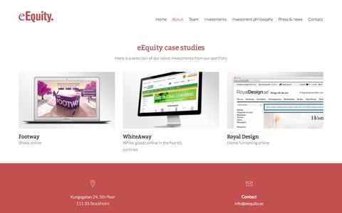 Screenshot of Case Studies Page eequity.se - Case Studies | eEquityeEquity - captured Nov. 1, 2014