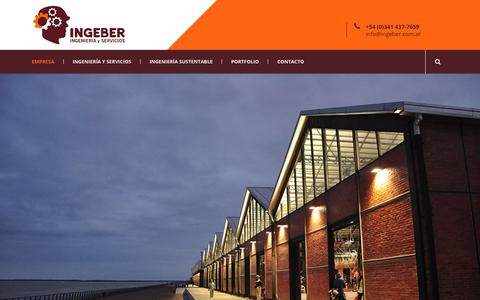 Screenshot of Home Page ingeber.com.ar - INGEBER | Ingeniería y Servicios - captured Sept. 14, 2018