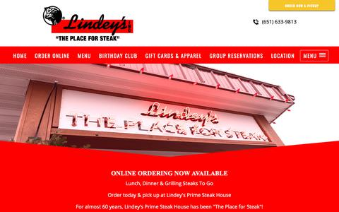 Screenshot of Contact Page theplaceforsteak.com - on line store  Steak House, Restaurant and Bar, Casual Dining | Arden Hills, MN - captured Sept. 28, 2018
