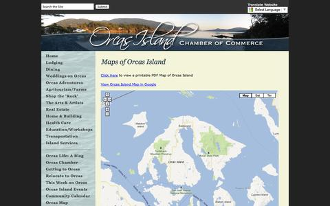 Screenshot of Maps & Directions Page orcasislandchamber.com - Maps of Orcas Island | Orcas Island Chamber of Commerce - captured Oct. 26, 2014