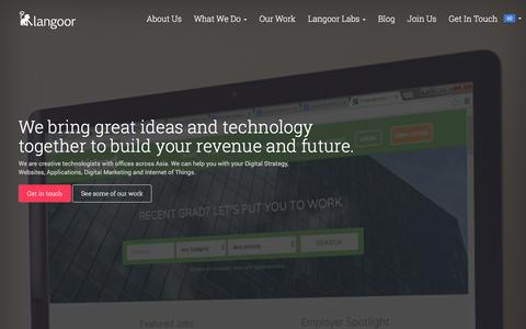 Screenshot of Home Page langoor.com - Best Digital Marketing Agency   Langoor - captured Dec. 7, 2015