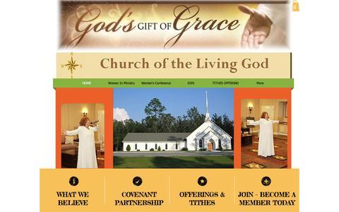 Screenshot of Home Page church-living-god.org - Church of the Living God - captured Jan. 28, 2016