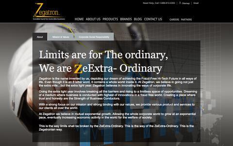Screenshot of About Page zegatron.com - ::Zegatron:: Apparel Printing Company USA | Buy Custom Design Tshirt | American Web Solution Company | Website Designing USA |Buy Garments Sale - captured Oct. 7, 2014
