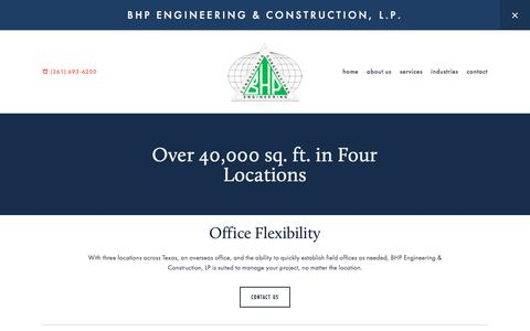 Screenshot of Locations Page bhpeng.com - Locations — BHP Engineering & Construction, L.P. - captured Oct. 9, 2017