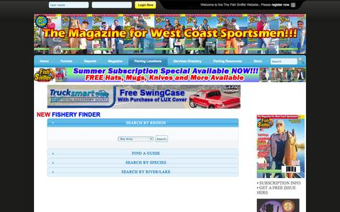 Screenshot of Locations Page fishsniffer.com - The Fish Sniffer - Locations - captured Oct. 30, 2014