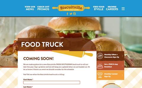 Screenshot of Signup Page biscuitville.com - Food Truck | Biscuitville - captured Jan. 4, 2016