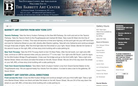 Screenshot of Maps & Directions Page barrettartcenter.org - barrettartcenter.org - Directions - captured Sept. 30, 2014