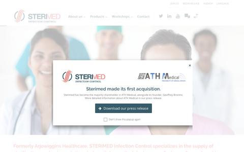 Screenshot of Home Page sterimed.fr - STERIMED - Packaging Solutions for Infection Prevention - captured Sept. 30, 2017